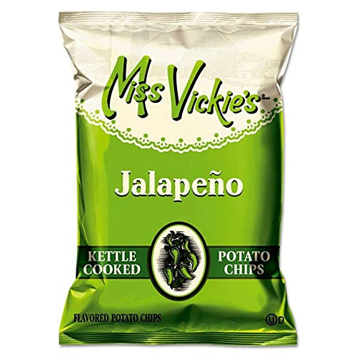 Miss Vickie's Kettle Cooked Jalapeno Potato Chips, 1.375 Oz Bag, 64/Carton