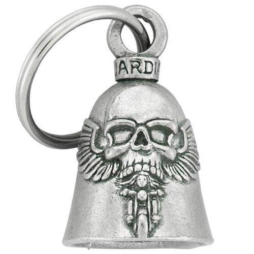 Guardian Bell Campanilla de calavera con alas, amuleto para motocicletas
