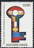 FGNDGEQN Sello Suministros Naciones Unidas Ginebra 1980 sello economía internacional nuevo orden 1 llave completa pegamento crudo todos los productos