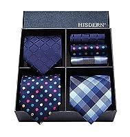 ビジネス紺 ネクタイ セット [ (ヒスデン) HISDERN ] 結婚式 青 ネクタイ 3本セット フォーマル メンズ ネクタイ チーフ おしゃれ ブランド プレゼント TB3005