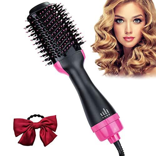 Cepillo Secador De Pelo, ZAHRVIA Upgrade Cepillo De Aire Caliente 5 en 1, 3 Modos, Multifunción Secador de Cerámica con Iones Negativos para Peinado de Salón de Belleza