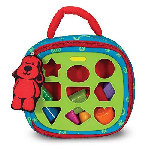 Melissa & Doug K s Kids Take-Along Shape Sorter Baby Toy With 2-Sided Activity Bag and 9 Textured Shape Blocks
