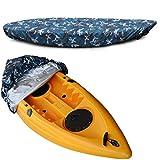 Couverture de canoë de kayak Housse de protection solaire anti-poussière de stockage de canoë imperméable en plein air offre une protection UV pour bateau de pêche,adaptée pour 3,6-4 m/10,8-12 pieds