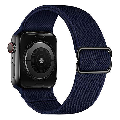 Aottom Bracelet Elastiques Tressée pour Apple Watch 44mm Bracelet ,Bracelet Apple Watch 42mm Élastique Nylon Tissé Bracelet de Remplacement pour iWatch Séries 6/5/4/3/2/1/SE