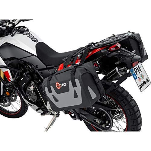 QBag Motorrad Satteltaschen für Motorrad Taschen Satteltaschenpaar ST07 wasserdicht 50 Liter Stauraum, Unisex, Multipurpose, Ganzjährig, Polyamid, schwarz