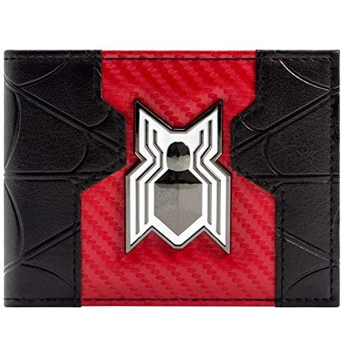 Marvel Spider-Man Heimkehr Film-Weiß-Logo Schwarz Portemonnaie Geldbörse