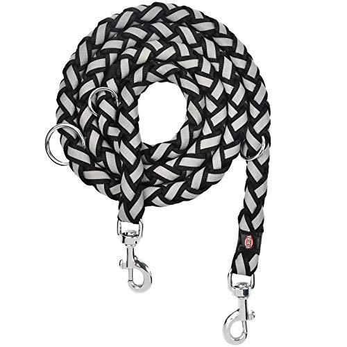 """""""N/A"""" Premium Hundeleine Doppelleine 2m schwarz Umhängeleine ne Hundeleine, Multifunktion Doppelleine Reflektierend, Flexible Multileine, 4-Fach verstellbar Joggingleine"""