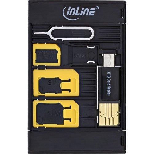 InLine 35091 SIM-BOX, Simkartenadapter und Zubehörbox mit OTG Kartenleser