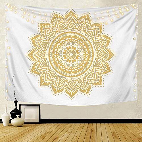 KHKJ Mandala patrón Tapiz Indio decoración para Colgar en la Pared Toalla de Playa Bohemia Manta Fina Yoga Shaw A17 95x73cm
