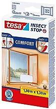tesa Insect Stop Comfort vliegenhor voor ramen/insectenbescherming met zelfklevend klittenband/antraciet + 1 gratis vliege...