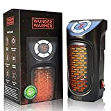 Wunder Warmer - (2 Pack) 350W Ceramic Wall-Outlet Space Heater, Adjustable Thermostat, Plug-in Portable Mini Heater with Timer & LED Display, Personal Electric Heater for Office Home Dorm Room