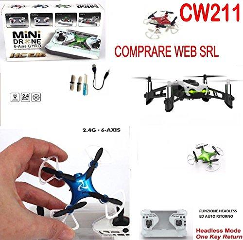 Comprare Web Mini Drone Portatile RADIOCOMANDATO Ricaricabile QUADRICOTTERO 360 Gradi HC 616 CW211