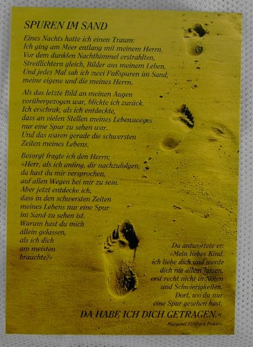 Spuren im Sand - Postkarte 12er Pack