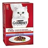 Purina GOURMET Mon Petit Katzennassfutter Fleisch-Variationen, 8er Pack (8 x 6 x 50 g) Packung
