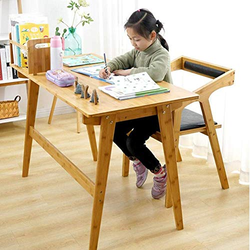 B-CD Pratique en Bois Massif Table de Bambou Chaise en Bambou Ordinateur Portable Simple Ménage de Bureau Bureau Bureau Chambre Étudiant Bureau Moderne Nordic Bureau Table D'Étude Durable, Bambou
