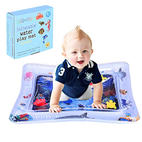Kids Inflatable Tummy Time Baby Water Play Mat for Baby Boys Girls, Best for Cooling Children in a Hot Summer, Activity Center Toys for Stimulation Growth