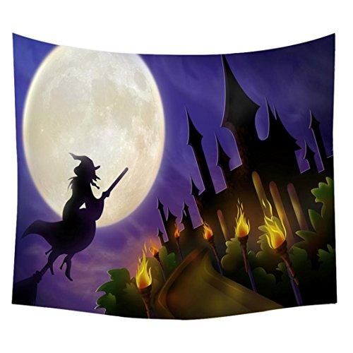 MRULIC Halloween Tapisserie -Strand-Abdeckung herauf Tunika-Tapisserie Wallhaning Roomdorm Hauptdekor (B)
