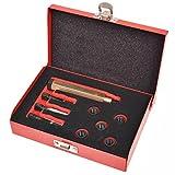 UnfadeMemory Kit de Herramientas de Reparación Rosca Bujía Incandescente M9x1,0 mm,9 pzas,Herramientas Profesionales