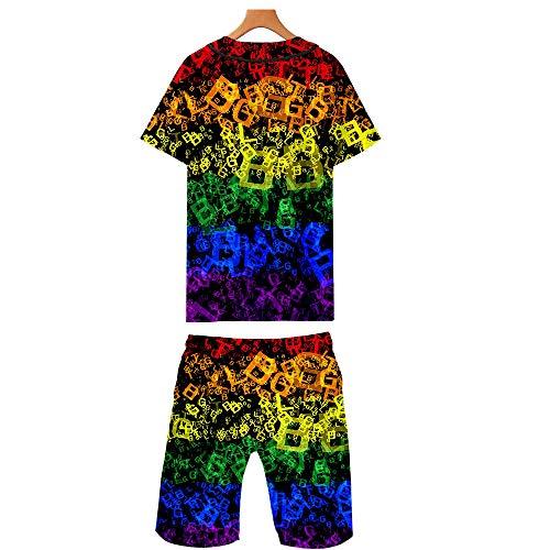 3D Print Tee Shirt Rainbow Lesbian 2 Piece Outfits for Men//Women Gay Baseball Jersey Set LGBT Pride T-Shirt /& Shorts Suit