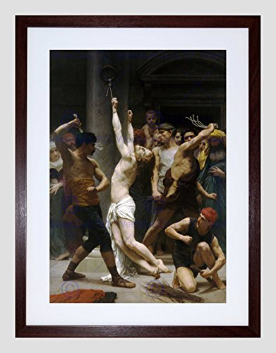 WILLIAM ADOLPHE BOUGUEREAU FLAGELLATION OUR LORD JESUS FRAMED PRINT B12X2311
