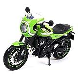 GRX-PRETTY 1:12 Kawasaki Z900RS ModèLe De Moto Simulation De Voiture De Rue Rue RéTro, Le RéServoir De Carburant Est en Alliage, La PoignéE Peut êTre TournéE, ModèLe Statique, Collection De ModèLes
