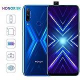 HONOR 9X Smartphone Débloqué 4G, 4Go RAM 128Go ROM, 6,59 Pouces FullView Écran, 48MP Triple Caméra, 16MP Pop-up Selfie Caméra, Double Sim,Bleu