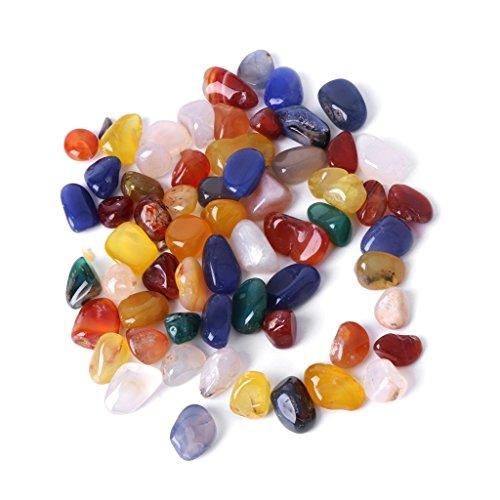 CADANIA Piedra Natural Cristal Ágata Acuario Pecera Decoración Colorido Guijarro Grava - Ágata de Colores