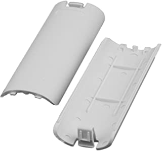 ReFaXi 2 PCS New Battery Back Door Shell Cover for Nintendo Wii Remote Controller White