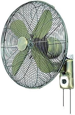 YZPTD Hogar Shaking Head Desktop Fan Industrial -Vintage Metal Wall Fans-Control Remoto Tiempo Antiguo Hogar Sacudida Cabeza Ventilador eléctrico