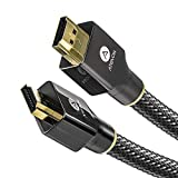 4K HDMI Cable, 15 ft, Atevon 18 Gbps, High Speed Gaming HDMI HDR Cable, 5K@30Hz, 4K@60Hz, 2K@165Hz, 1080P@240Hz, HDCP 2.2, 3D, ARC HDMI for UHD TV, Blu-ray, PS4/3, Projector, Monitor