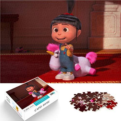 Adultos y niños Big Wisdom Puzzle Mini 1000Pcs meu malvado favorito agnes Dating artifact 75x50cm Puzzle de madera