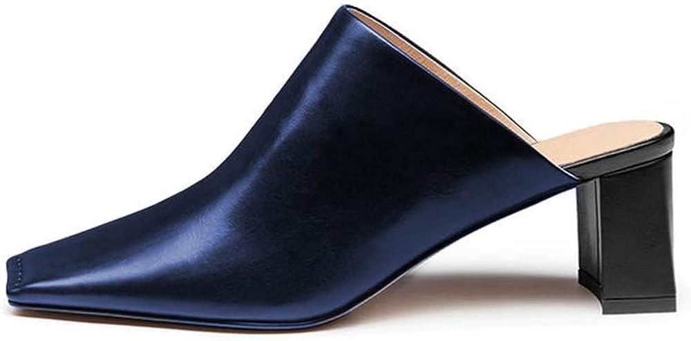 SALENEW very popular Amarantos Women's Square Toe Block Heel Colorado Springs Mall Mules Slide On Ladi Slip