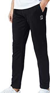 DUOFIER Men's Gym Jogger Pants Slim Fit Workout Running Sweatpants