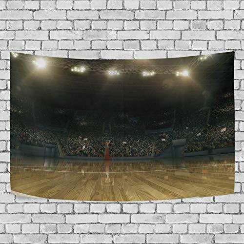 Arena profesional de baloncesto con ventiladores deportivos Tapiz de dormitorio EXCLUSIVO EXCLUSIVO COLGANTE MULTI PROPÓSITO CAMBajes de fondo para sala de estar, puerta y cocina.60x40 pulgada-94 leil