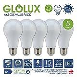 *, 5 unidades* LED A65 bombilla E27 luz blanca fría 1200 lumens 15 W
