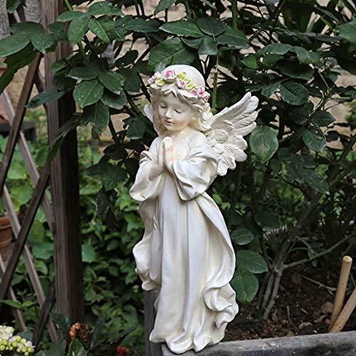 NYKK Ornamento de Escritorio La decoración del jardín jardín al Aire Libre American Country Pequeña decoración del jardín de la decoración del jardín ángel decoración Resina artesanías decoración