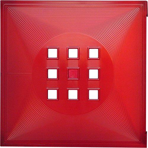 Designer Regaltür als Fach-Einsatz, Regalsysteme mit Mass ca. 33,6cm x 33,6cm, Tür für Ikea Regal Expedit Kallax Nornäs - Würfel Flexi - XXXL Lutz - Quelle Raumteiler -Variation in (Rot)