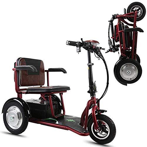 Elektro-Dreirad-Roller - 3-Rad-Elektro-Scooter Für Erwachsene/Ältere Freizeit Reisen Mobility Scooter, Dieser Scooter Von Mit Korb Ist Ideal Eine Reibungslose Fahrt Auch Auf Unebenem Gelände