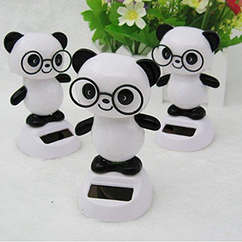 Panda Danse Mignon Jouet Modèle d'Energie Solaire Jouet Bobble Chambre Voiture Ornement Cadeau Mariage Anniversaire
