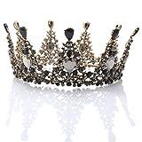 Handcess Krone / Tiara / Diadem mit Strass besetzt, Vintage-Stil, für Hochzeit, Braut, Brautjungfer, Königin, Prinzessin