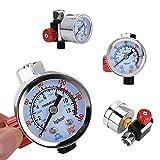 Regulador de presión de aire G1/4 con manómetro, instrumento de aire ajustable Herramienta neumática Accesorios para pistola pulverizadora Herramienta de regulador de presión repuesto para compreso