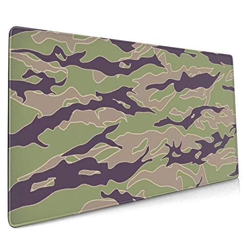 Große Gaming-Mausunterlage Vietnam Tiger Stripe Camouflage Rutschfester Gummi Verdickt 3 Mm Keyboard Mouse Mat Mousepad