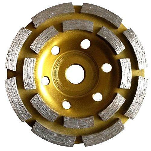 Big Save! 4 1/2 / 115mm PREMIUM Grade Double Row Concrete Diamond Grinding Cup Wheel