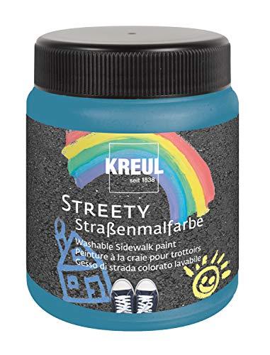 Kreul 43105 Streety straatverf in badslipblauw 200 ml, afwasbaar vloeibaar krijt om te schilderen met borstel of roller, vloeibaar krijt, veganistisch, dermatologisch getest, uitwasbaar