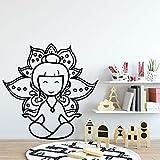 Etiquetas engomadas sutiles de la pared de la niña, arte interior moderno decoración de la sala de estar pegatinas de pared papel tapiz A2 L 43x43cm