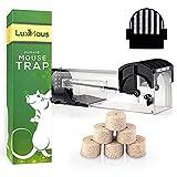LuxMaus Set - Mausefalle Lebend/Lebendfalle - Die tierfreundliche Falle fängt Mäuse und Ratten sicher + ungiftiger, tierfreundlicher Mäuseköder/Lockmittel - lockt Nagetiere effektiv an