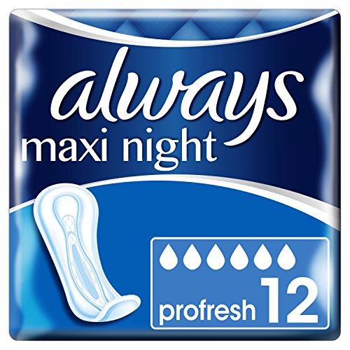 Always Maxi Night ProFresh Binden ohne Flügel, 12 Stück