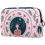 Borsa per pennelli da trucco personalizzata, borsa portatile da donna, organizer da viaggio per cosmetici, bollitore fiore
