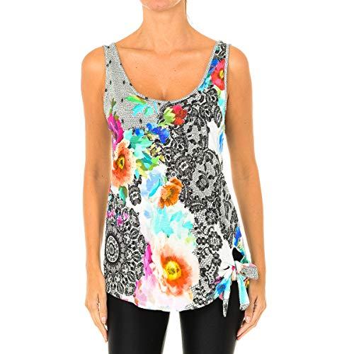 Desigual TS_Crystal Camiseta, Blanco (Tiza 1010), Large para Mujer