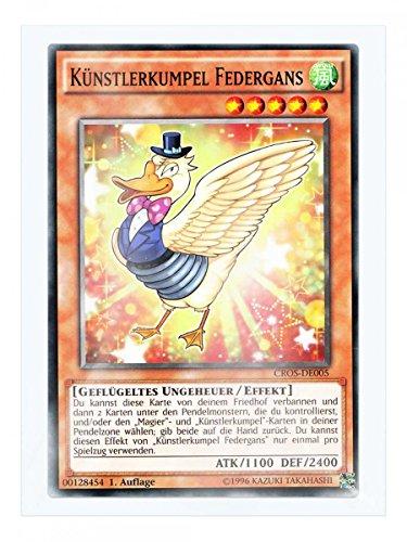 CROS-DE005 Künstlerkumpel Federgans 1. Auflage im Set mit original Gwindi Kartenschutzhülle